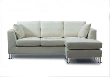 European fashion corner Living room furniture beige fabric cheap L shape sectional sofa