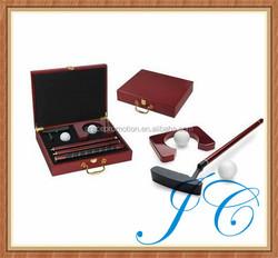 Wholesale mini golf set & indoor office golf gift set & golf club set for sale