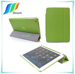 for mini ipad case,for ipad leather case,THREE FOLDS case for ipad