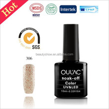 OUL'AC 528 rich colors easy off led uv gel, special nail polish, wholesale gel polish