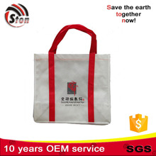 most popular non woven promotional shopping bag with velcro stitched