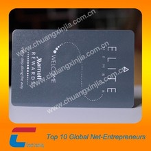 Business card plastic black matt