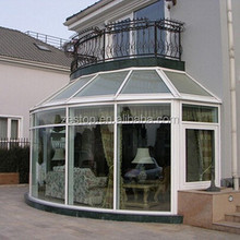 Generous fashion style aluminium thermal break sunrooms with glass roof