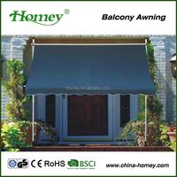 retractable waterproof outdoor canopy balcony awning design