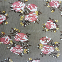 Chinese fabric ,made of 100%cotton 21wales corduroy,cotton rose print fabric