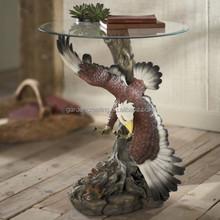 Decorative Eagle Coffee Table Glass Coffee Table Design