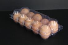 Huevos frescos tray 10 holes paquete PVC desechable de plástico transparente caja de la ampolla, 10 huevos vac bandeja