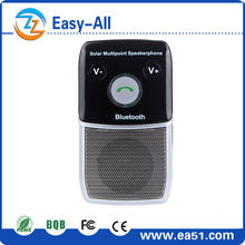 Solar bluetooth handsfree car kit for music playing and answering calls HF-710