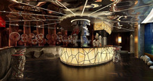 Top quality Artificial marble stone new design laminated bar, nightclub bar counter