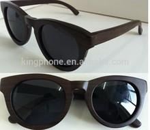 El mejor regalo de recuerdo de embarcaciones de madera de ébano/sándalo rojo gafas de sol con diseño de moda