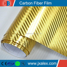 High Quality Gold Bubble Free 4D Carbon Fiber Film For Car Wrapping