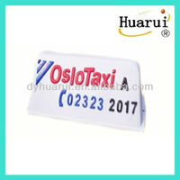 White taxi roof light box