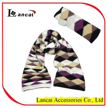 2016 hot sale high quality girls multi color cashmere knitted scarf