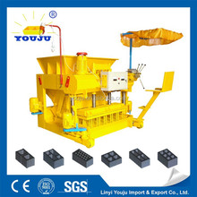 mobile block making machine QMY6-25 hollow small concrete block making machine price