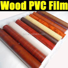 High quality 1.24x50M PVC WOOD Texture Vinyl film for car decoration