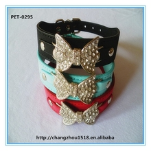 Bowknot Design Dog Collars with dogs accessories in china