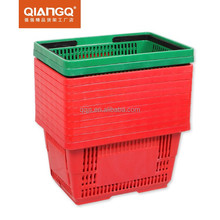 high quality plastic shopping basket for supermarket