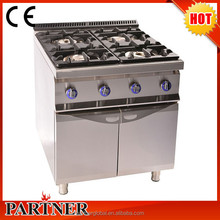 Shenzhen Manufacturer 304 Stainless Steel Gas Style ISO9001 2 Burner Gas Stove With Oven For Restaurant