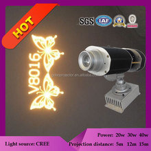 outdoor light projector led 30w image moving single gobo