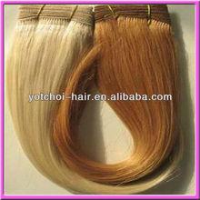 "Wholesale 8""-26"" double weft #613 light creamy blonde 100% human hair virgin brazilian human hair wet and wavy weave"