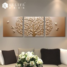 3D deer oil painting trees pattern, decorative painting scenery ,canvas oil painting