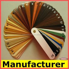 pvc door edge banding/ wood grain and plain colored melamine edge banding tape