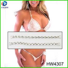 Renqiing jewelry Hw4307crystal rhinestone connectors Chian for bikini ,Rhinestone buckle