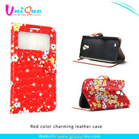 China supplier cheaper price slender cover wallet design cell phone leather case for samsung galaxy S4