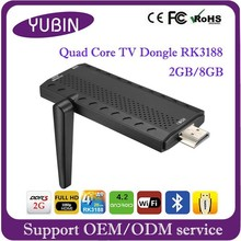CX919 Mini Pc RK3188 Quad Core Android 4.4 Mini TV Dongle with WIFI Bluetooth XBMC android smart tv dongle