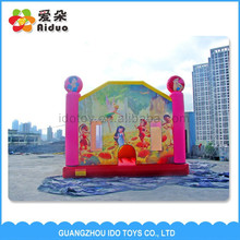 0.55mm PVC inflatable bouncer , kids jumping bed, inflatable kids games