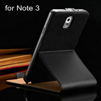 Quality real leather flip phone case for Samsung Galaxy Note 3 N9000 hot selling on Alibaba website