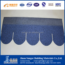fish scale type colorful asphalt shingle