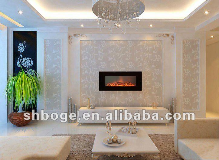 Foyer Electrique Modern Homes : Moderne mur monté lvd tactile foyer électrique chauffe