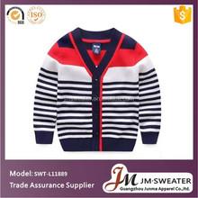 Boutique streifen herbst pullover für kinder, junge