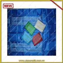 Muslim black polyester prayer mat rug with compass top brand