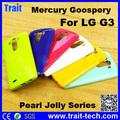 Mercury Goospery Color Pearl Jelly Series Flexible TPU Funda, Case Cover Para LG G3 D850