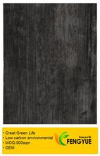 De color oscuro de madera en relieve de pvc tablón(7117)