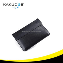 Precise Slim PU Black Leather bag for macbook pro simple design