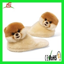 LE C1677 The World's Cutest Dog Child Sized Slippers 9inch Plush, One Size