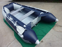 CE approved inflatable boats dark blue and light grey aluminium floor ASD-320 for Sale!!!