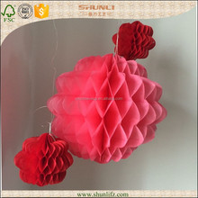 wedding decorations red hanging tissue paper honeycomb lanterns balls