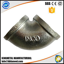 Trade Assurance INQO Brand Banded Malleable Iron Pipe Fittings
