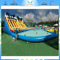 Chinese factory price customized style and size inflatable floating water slide, inflatable slide