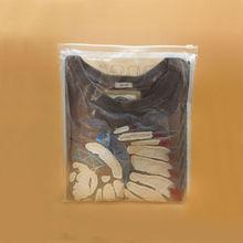 Yason polyethylene clothing cool style metal plate logo for handbags customized die cut bag