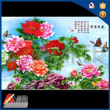 3d cuadro de la impresión de hermosas flores