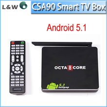 Reasonable price! CSA90 tv box octa core rk3368 android 5.1 support wifi and bluetooth 4k tv box