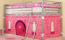 loft bed with tent , slider /Home Furniture General Use hello kitty bed mid sleeper bunk bed
