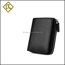 Innovative product young man card wallet zipper coin holder purse