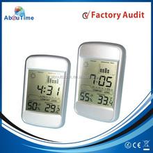 Digital weather station alarm clock with electric desk calendar clock