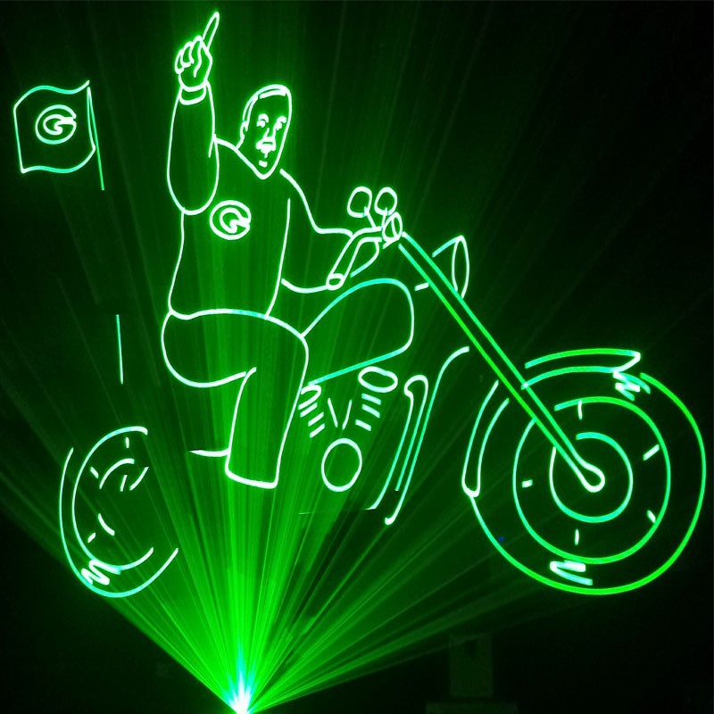 5 w rgb vert laser show system pour ext rieur lumi res for Laser lumiere noel